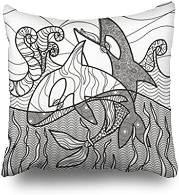 Sneeepee Fundas de almohada diseño antiestrés página de colorear ...