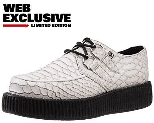 T.U.K. Shoes V9018 Unisex-Adult Creepers, White Dragon Embossed Creepers - US: Mens 4 / Womens 6