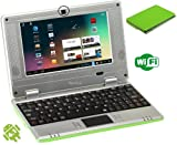 WolVol (Green) Mini Laptop 7 inch Android 4.1 with installed WIFI to access internet (Works with WIFI or Ethernet) and a built in Camera, Best Gadgets