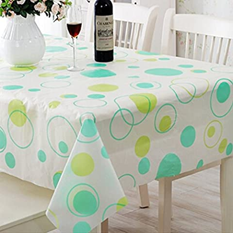 dolly2u 180cm Durable PVC dolly2u Waterproof Tablecloth Cover Protector Kitchen Picnic#Green dot (External Hard Drive 180)