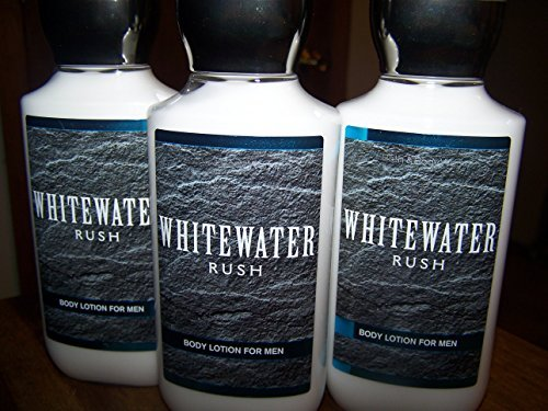 Bath and Body Works Whitewater Rush Body Lotion for Men 8 Ounce Each Pack of 3 Moisturizing Lotion for Men