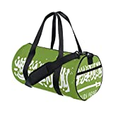 Distressed Saudi Arabia Flag Travel Duffel Shoulder Bag ,Sports Gym Fitness Bags
