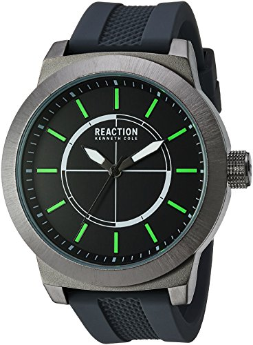 Kenneth Cole REACTION Men's 'Sport' Quartz Metal and Silicone Casual Watch, Color:Grey (Model: 10030943)