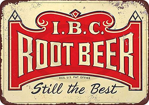 Jesiceny New Tin Sign IBC Root Beer Still The Best Vintage Look Aluminum Metal Sign 8x12 Inches ()