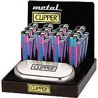 Auténtica Rainbow Metal Metálico Clipper Mechero cromado