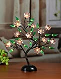 Lightshare 18Inch 36LED Big Blossom Flower Bonsai Light, Pink Flower, Green Leaf,Battery Powered or Plug-in Adapter (not included), Built-in timer, Décor for Home/Festival/Party/Christmas