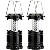 Airsspu-Camping-LanternOutdoor-LED-Lantern-Flashlights-Water-Resistant-Home-Garden-Portable-for-Hiking-Emergencies-Hurricanes-Black2Pack