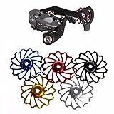 Bicycle Derailleur Pulley wheel, Weant 13T MTB Ceramic Bearing Jockey Wheel Pulley Road Bike Bicycle Rear Derailleur Support 7/8/9/10 Speed (Silver)