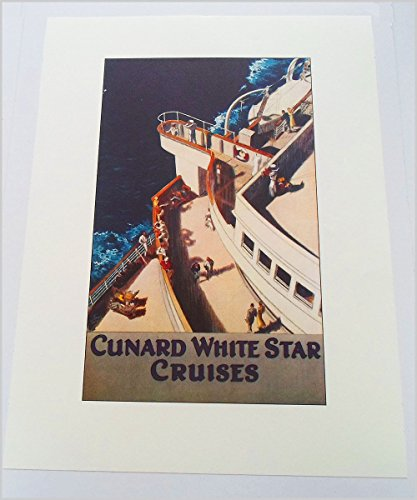 Cruise Art Deco Print (Art Deco print reproduction - Vintage Travel Poster: Cunard White Star Cruises)