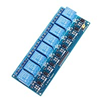 AVOLUTION DC 12V 8 Channel Relay Module with Optocoupler Relay Controller for Arduino