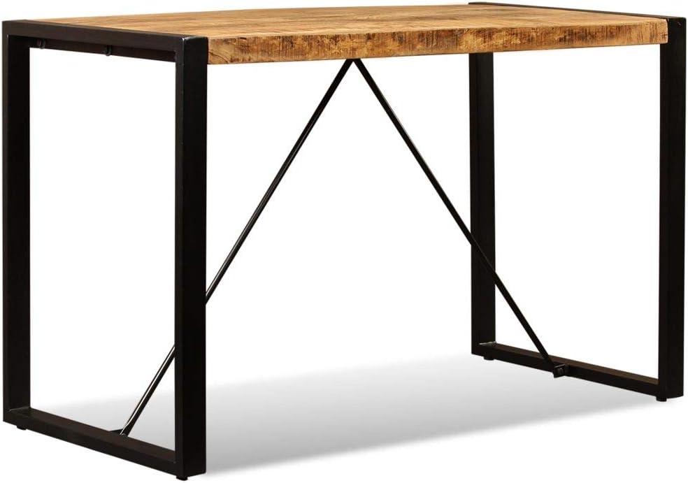 Vidaxl Esszimmertisch Vintage Mangoholz 120cm Esstisch Kuchentisch Holztisch Esszimmertische Kuche Haushalt Wohnen