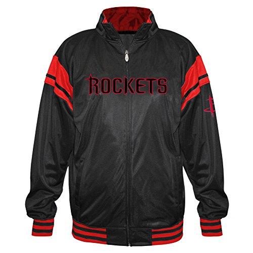 Profile Big & Tall NBA Houston Rockets Tricot Track Arm Piece, Black/Red, 6X