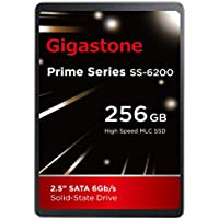 Gigastone 256GB SSD Intel MLC 2.5 SATA 3 Solid State Drive [Performance HD Upgrade for HP Dell Samsung Sony Asus PC, Apple Mac Macbook, Laptop, Notebook Ultbook, Gaming, Video Editing, Server, Raid]