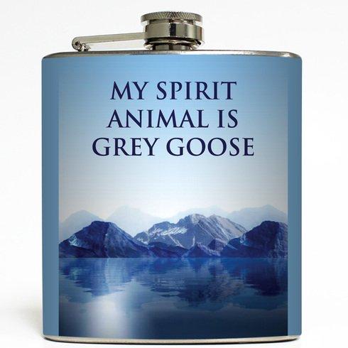 my-spirit-animal-is-grey-goose-liquid-courage-flasks-6-oz-stainless-steel-flask