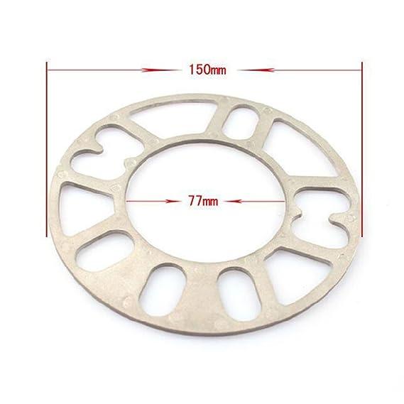 4Pcs Aluminiumlegierung 4 und 5 Lug3 thick 12 mm Rad Distanzscheiben 12mm Dicke Universal Rad Distanzscheiben 5//8//10