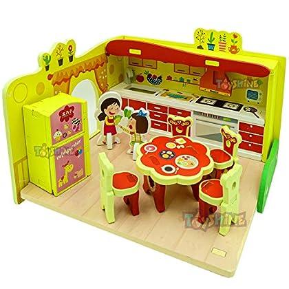 Toyshine Miniature Wooden Baby Kitchen Set Toy and Accessories