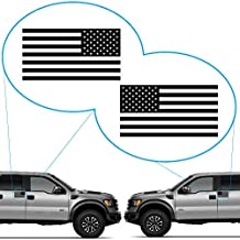 "American Flag United States Decal Sticker for Car Window, Laptop, Motorcycle, Walls, Mirror and More. # 816 (3"" x 5.7"", Black)"