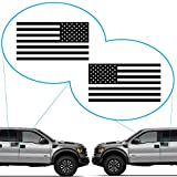 Yoonek Graphics American Flag United States Decal Sticker for Car Window, Laptop, Motorcycle, Walls, Mirror and More. # 816 (3' x 5.7', Black)