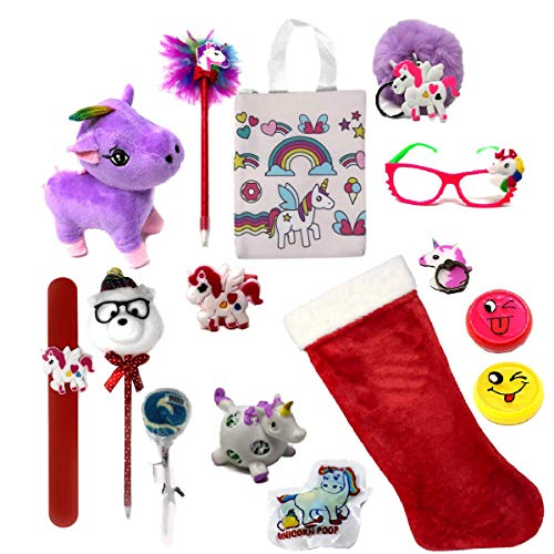 Christmas Stockings for Girls Filled with Unicorn Gifts - The Ultimate Holiday Gift for Kids or Adult Unicorn Lovers ()
