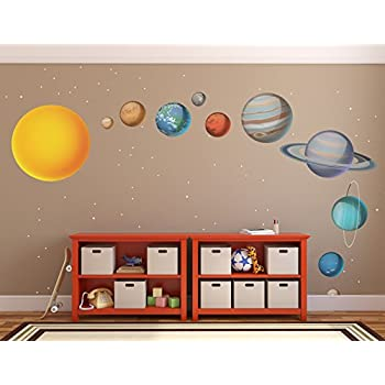High Quality X Large Solar System Wall Decals // Large Planets Wall Stickers // Planet