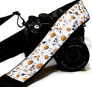 Daisies Camera Strap. Flowers Camera Strap. Nikon Canon Camera Strap. Photo Camera Accessories; 138