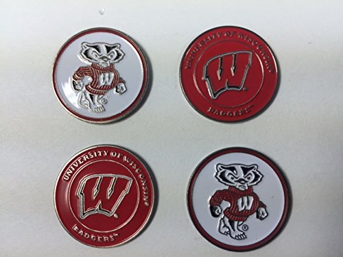 Wisconsin Badgers Golf Ball Markers 4-Pack