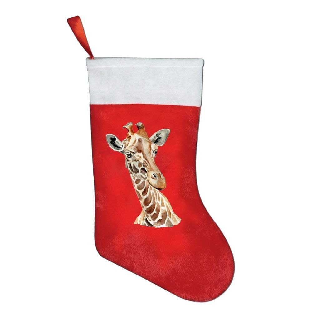 coconice Giraffe Animal Watercolor Painting Christmas Holiday Stockings by coconice