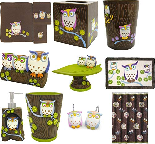 - Allure Home Creations Awesome Owls Bath Collection (10)