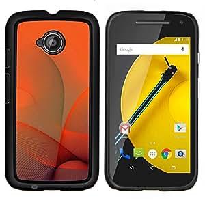 /Skull Market/ - Orange Swirls For Motorola Moto E 2nd Generation - Mano cubierta de la caja pintada de encargo de lujo -