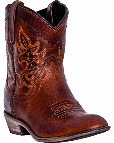 Dingo Women's Willie Short Cowgirl Boot Round Toe Brown 10 M US