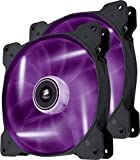 Corsair Air Series SP 140 Led Purple High Static Pressure Fan Cooling-Twin Pack (Co-9050038-WW)
