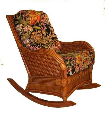 Spice Islands - Kingston Reef Wicker Rocker Cinnamon