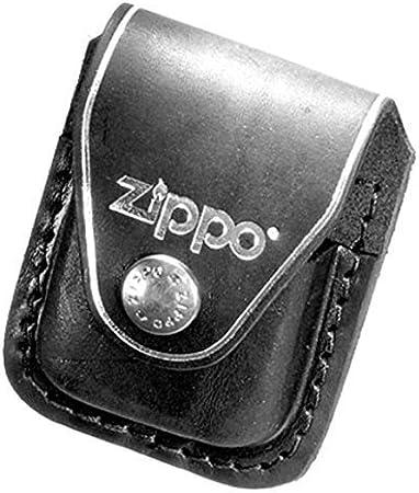 Para Zippo: de cuero negro con cuero