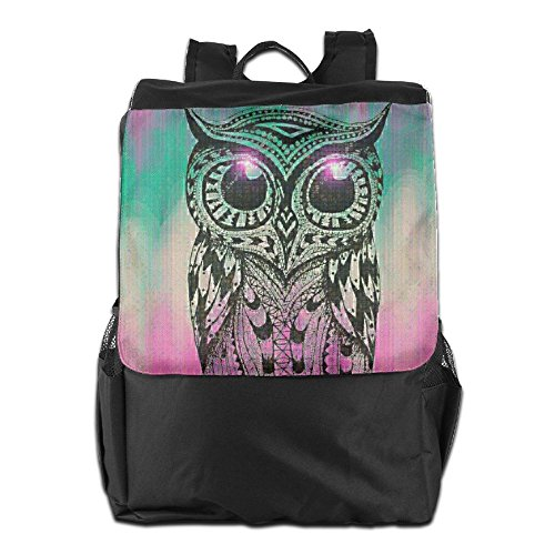 Cute Camping Outdoors Shoulder School Men Backpack HSVCUY Personalized Strap Owl Travel Adjustable And Women Dayback For Storage g5SwIYWq