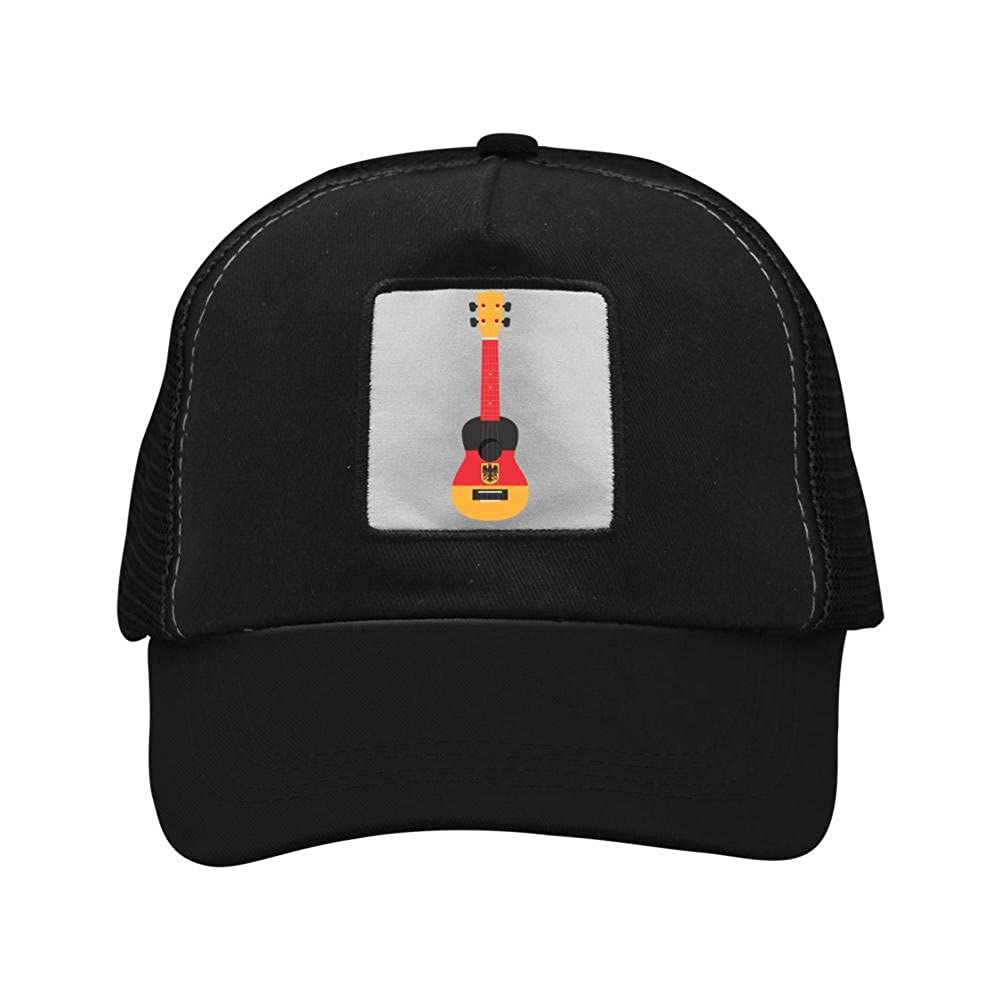Nichildshoes hat Mesh Caps Hats for Men Women Unisex Print Germany Flag Guitar
