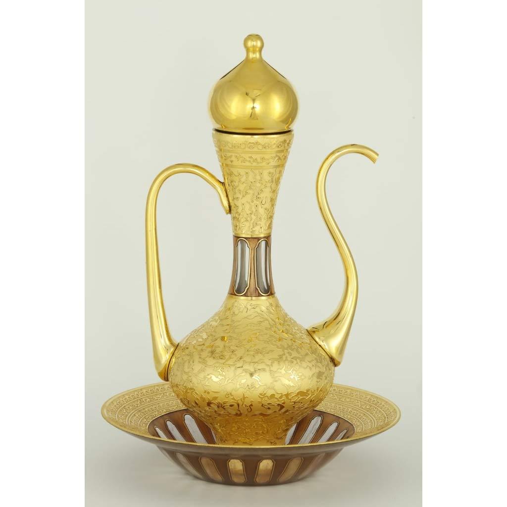 Sultan SULEYMAN Gold Plated Hand Working IBRIK