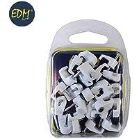 EDM Grapa Blanca Cable Manguera Plana 2x1, 5