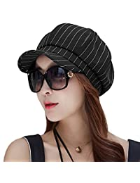Siggi Womens Newsboy Cabbie Cap Visor Beret Baker Hat Painter Caps Black