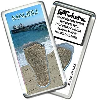 product image for Malibu FootWhere Souvenir Fridge Magnet. Made in USA (MBU202 - Pier)