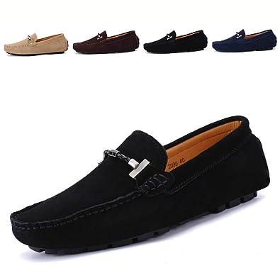 2f0a3d761cd69  Date U  モカシン ドライビングシューズ メンズ 大きいサイズ ビット付き 革靴 通気性 スエード