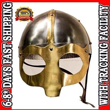 Cheap Viking cascos casco de Vikingo guerrero Vikingo casco de soldadura Q01