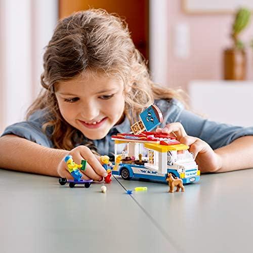 LEGO 60253 Eiswagen City Spielzeug mit Skater- und Hundefigur, für Kinder ab 5 Jahren