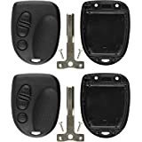 KeylessOption Just the Case Keyless Entry Remote Control Car Key Fob Shell (Pack of 2)