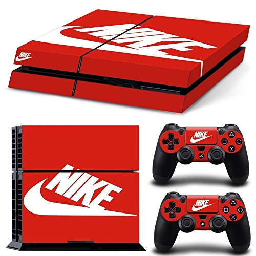 PS4-ShoeBox-2-Nike-Logo-Shoe-Box-Whole-Body-VINYL-SKIN-STICKER-DECAL-COVER-for-PS4-Playstation-4-System-Console-and-Controllers