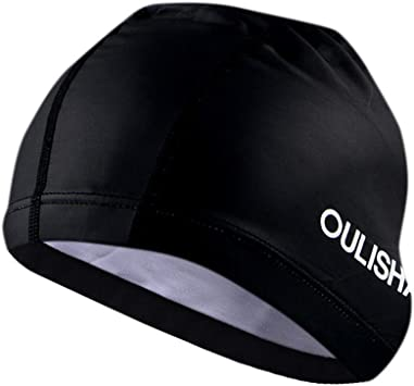 Durable Flexible Unisex Silicone Swimming Waterproof Swim Cap Bathing Hat