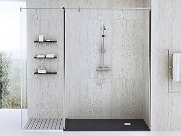 bodengleiche dusche 140x70 mineralguss begehbare dusche 70x140 werkseitig einkurzbar