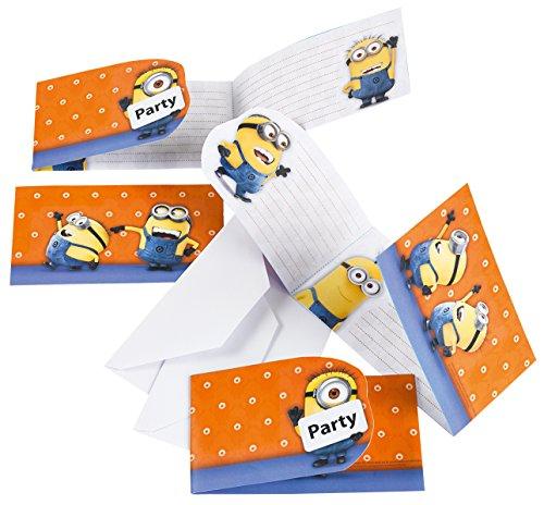 12-teiliges Einladungs-Set * MINIONS * für Party und Geburtstag // AMSCAN // Kinder Kindergeburtstag Mottoparty Fete Invites Einladungen Einladungskarten Despicable Me