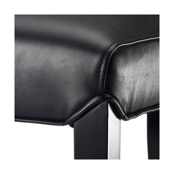 Safavieh Mercer Collection Seth Black Leather 25.9-inch Bar Stool