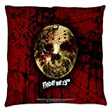 Friday The 13th Jason Voorhees Slasher Movie Bloody Mask Throw Pillow