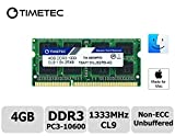 Timetec Hynix IC Apple 4GB DDR3 1333MHz PC3-10600 SODIMM Memory upgrade For iMac 27-inch Mid 2010, iMac 21.5-inch Mid 2010 (Low Density 4GB)